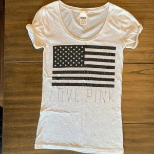 PINK Victoria's Secret American Flag Shirt - XS